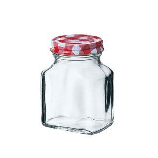 チェックボトル 平角200 ガラス キャニスター&ボトル 業務用