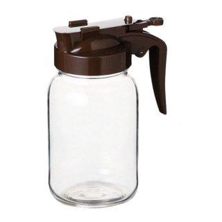 ハニーボトル 355 ブラウン ガラス カスター&ディスペンサー 業務用