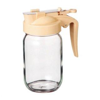 ハニーボトル 240 クリーム ガラス カスター&ディスペンサー 業務用