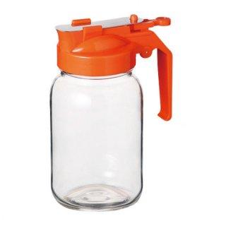 ハニーボトル 355 オレンジ ガラス カスター&ディスペンサー 業務用