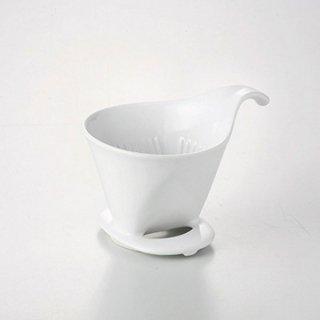 ドリッパー L ホワイト ガラス コーヒーグッズ 業務用