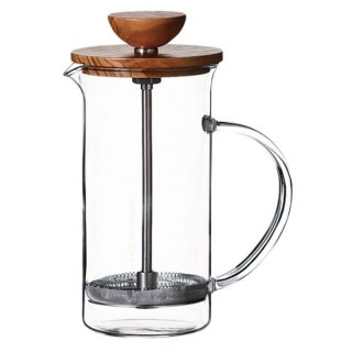 ティープレス ウッド 2杯用 ガラス ティーグッズ 業務用