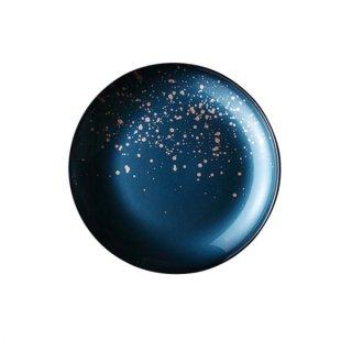 ラフィヌモン プレート28 ティールブルー ガラス プレート 丸 業務用