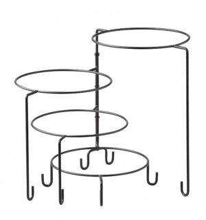 4段回転スタンド ガラス プレート 丸用スタンド 業務用