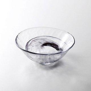 水墨 中鉢 黒 ガラス ボール 15cm〜25cm 業務用