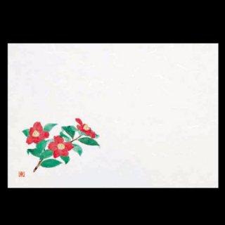 尺5寸 長手和紙敷マット 椿 2月〜4月 100枚 紙製品 尺5寸長手紙マット 業務用