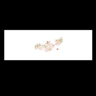 箸置マット 新桜・2 3月〜4月 100枚 紙製品 箸置マット 業務用