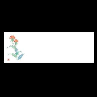 箸置マット 紅花 6月〜7月 100枚 紙製品 箸置マット 業務用
