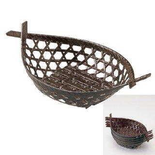 両舟かご 茶パール 漆器 かご・手提げ盛器 楕円・変型 業務用
