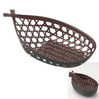 舟型かご 茶パール 漆器 かご・手提げ盛器 楕円・変型 業務用