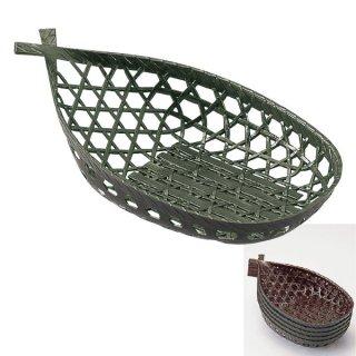 舟型かご グリーン 漆器 かご・手提げ盛器 楕円・変型 業務用