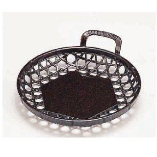 新5寸片手かご 茶パール 漆器 かご・手提げ盛器 丸 業務用