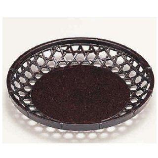 新6寸丸かご 茶パール 漆器 かご・手提げ盛器 丸 業務用