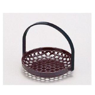 5寸竹かご マロン 折畳式  漆器 かご・手提げ盛器 丸 業務用