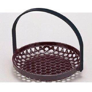 7寸竹かご マロン 折畳式  漆器 かご・手提げ盛器 丸 業務用
