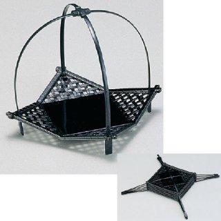 小 いさざ籠 黒 漆器 かご・手提げ盛器 楕円・変型 業務用