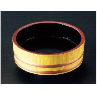 D.X7.5寸盛込桶 白木帯金内黒塗  漆器 盛込桶 業務用