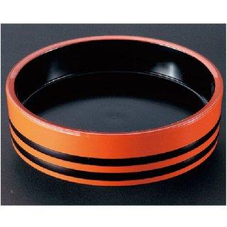D.X尺0寸盛込桶 朱帯黒内黒塗  漆器 盛込桶 業務用