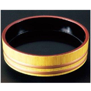 D.X尺0寸盛込桶 白木帯金内黒塗  漆器 盛込桶 業務用