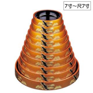 D.X富士型桶梨地黒松 7寸〜尺7寸 漆器 すし桶7寸〜尺5寸 業務用