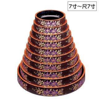 D.X富士型桶茶パール鉄仙 7寸〜尺7寸 漆器 すし桶7寸〜尺5寸 業務用