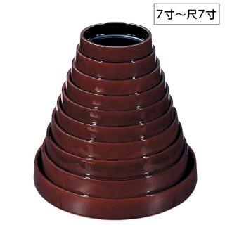 D.X富士型桶溜内漆調黒天溜底黒塗 7寸〜尺7寸 漆器 すし桶7寸〜尺5寸 業務用