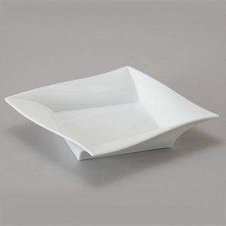 バンケット 23cmスクエアー深皿 洋食器 正角プレート(M) 業務用 約23.2cm デザート 前菜 オードブル お皿 四角