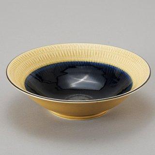 水明かり 瑠璃 7.5平鉢 和食器 盛鉢 業務用 約234cm 和食 和風 鉢 大鉢 サラダ 揚げ物 煮物 ボウル 創作料理 ボール 人気 定番