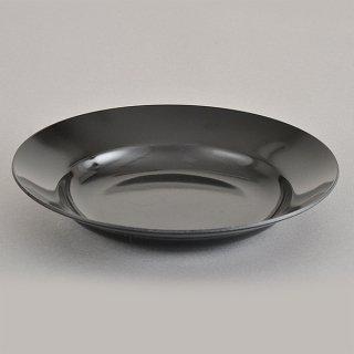 黒23cm受皿 メラミン 中華食器 ラーメン丼受皿 業務用