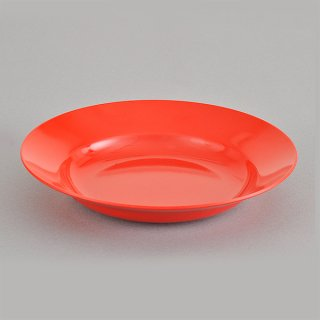 赤23cm受皿 メラミン 中華食器 ラーメン丼受皿 業務用