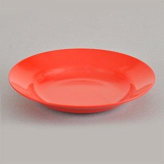 赤20cm受皿 メラミン 中華食器 ラーメン丼受皿 業務用