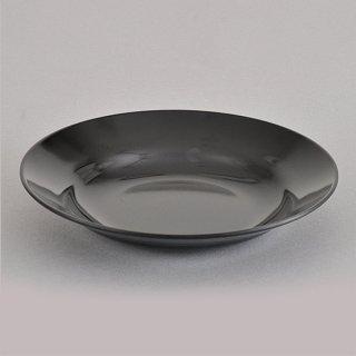 黒20cm受皿 メラミン 中華食器 ラーメン丼受皿 業務用