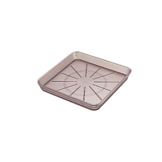 ウォーターポット17cm角受皿 ブラウン 樹脂製品 喫茶・お茶用品・ポット 業務用