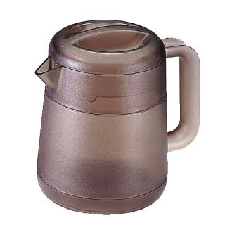 BKポリカ丸型リトルピッチャー 1.3L スモークブラウン 樹脂製品 喫茶・お茶用品・ポット 業務用