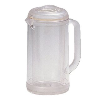 ポリカ丸型ノンウェットピッチャー 1.7L クリアー 樹脂製品 喫茶・お茶用品・ポット 業務用