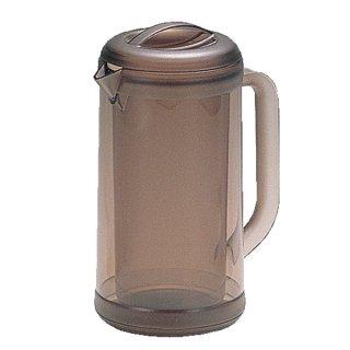 ポリカ丸型ノンウェットピッチャー 1.7L スモークブラウン 樹脂製品 喫茶・お茶用品・ポット 業務用