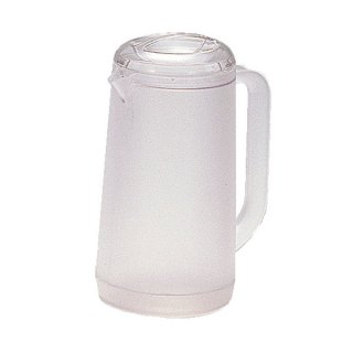 ポリカ丸型ノンウェットピッチャー 1.2L クリアー 樹脂製品 喫茶・お茶用品・ポット 業務用