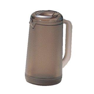ポリカ丸型ノンウェットピッチャー 1.2L スモークブラウン 樹脂製品 喫茶・お茶用品・ポット 業務用