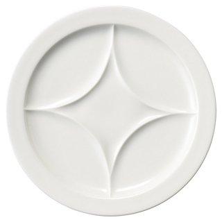 ニューラウンド 23cm バイキングプレート 洋食器 仕切プレート 業務用 カネスズ 約23cm ビュッフェ 仕切皿