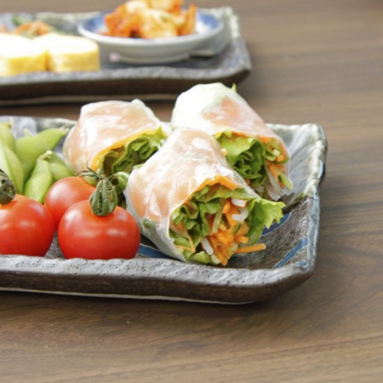 南蛮乱十草9.0長角皿 和食器 長角皿 業務用 約26.3cm 和食 和風 串物 ホッケ皿 揚げ物