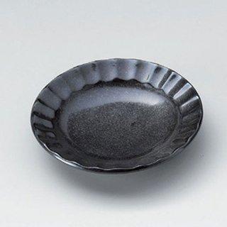 黒結晶しのぎ3.0皿 10cm 和食器 小皿 業務用