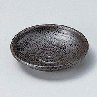 黒結晶3.0丸皿 9cm 和食器 小皿 業務用