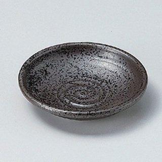 黒結晶2.8丸皿 8cm 和食器 小皿 業務用