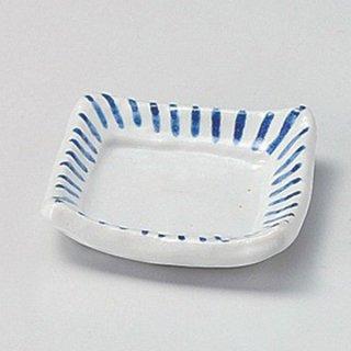 線十草角小皿 和食器 小皿 業務用 約7cm