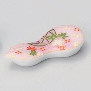 武蔵野ピンク箸置 和食器 箸置 業務用 約6.9cm