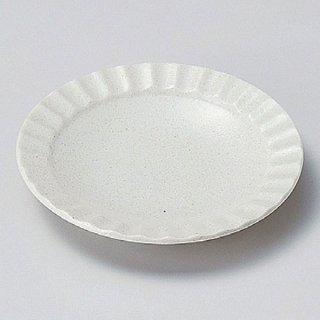白伊賀しのぎ50皿 17cm 和食器 フルーツ皿・銘々皿・取皿 業務用