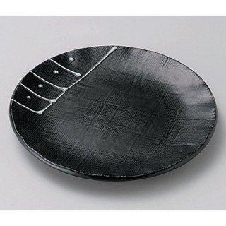 一珍黒釉5.0皿 16cm 和食器 フルーツ皿・銘々皿・取皿 業務用