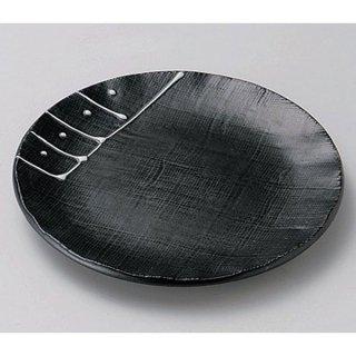 一珍黒釉4.0皿 14cm 和食器 フルーツ皿・銘々皿・取皿 業務用