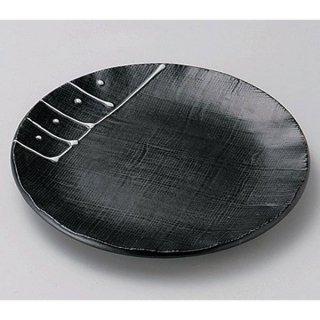 一珍黒釉3.5皿 12cm 和食器 フルーツ皿・銘々皿・取皿 業務用