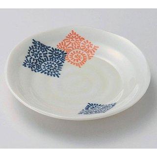 モダン唐草5.0皿 16cm 和食器 フルーツ皿・銘々皿・取皿 業務用